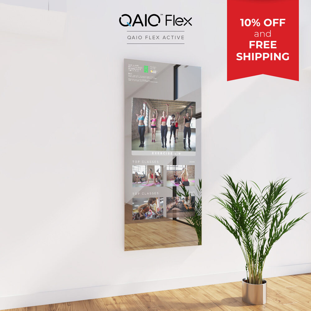 QAIO Flex Fitness Mirror Promotion