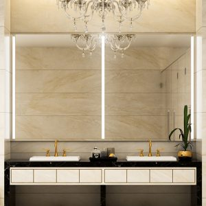 Premium quality lighted mirrors that can create a glow and gives off a relaxing ambience.