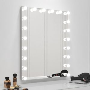 Our Hollywood mirror looks very elegant and very useful for your makeup application and personal preparation.