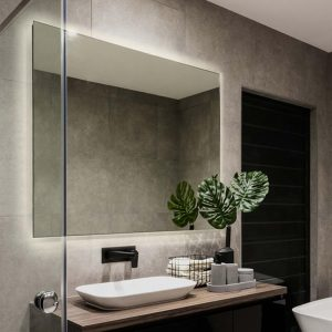 A functional bathroom mirror with LED lights create a subtle, but useful, glow that can light your bathroom in subtle ways.