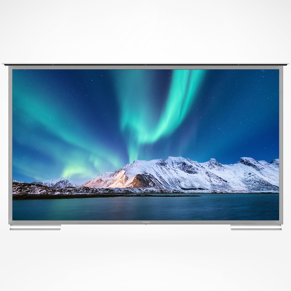 If you want the biggest outdoor TV for your space, consider the 100-inch Cosmos TV and enjoy a colossal display.