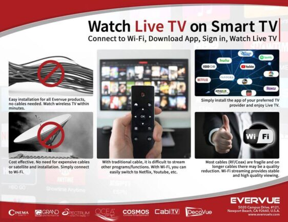 Wi-Fi streaming provides stable and high-quality viewing.