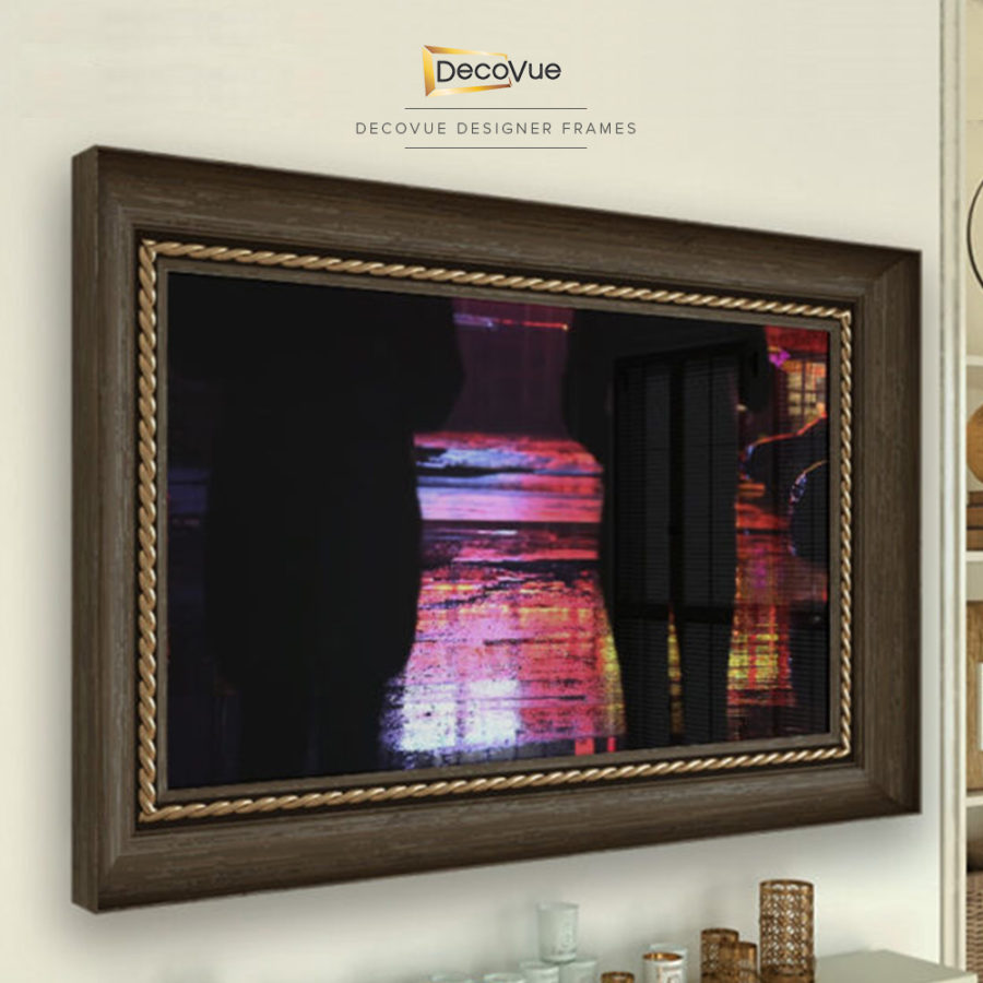 A wooden frame with gold trimmings adds sophistication to your home.