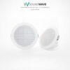 Set of two speakers in white suitable for bathroom, outdoor, and boats.