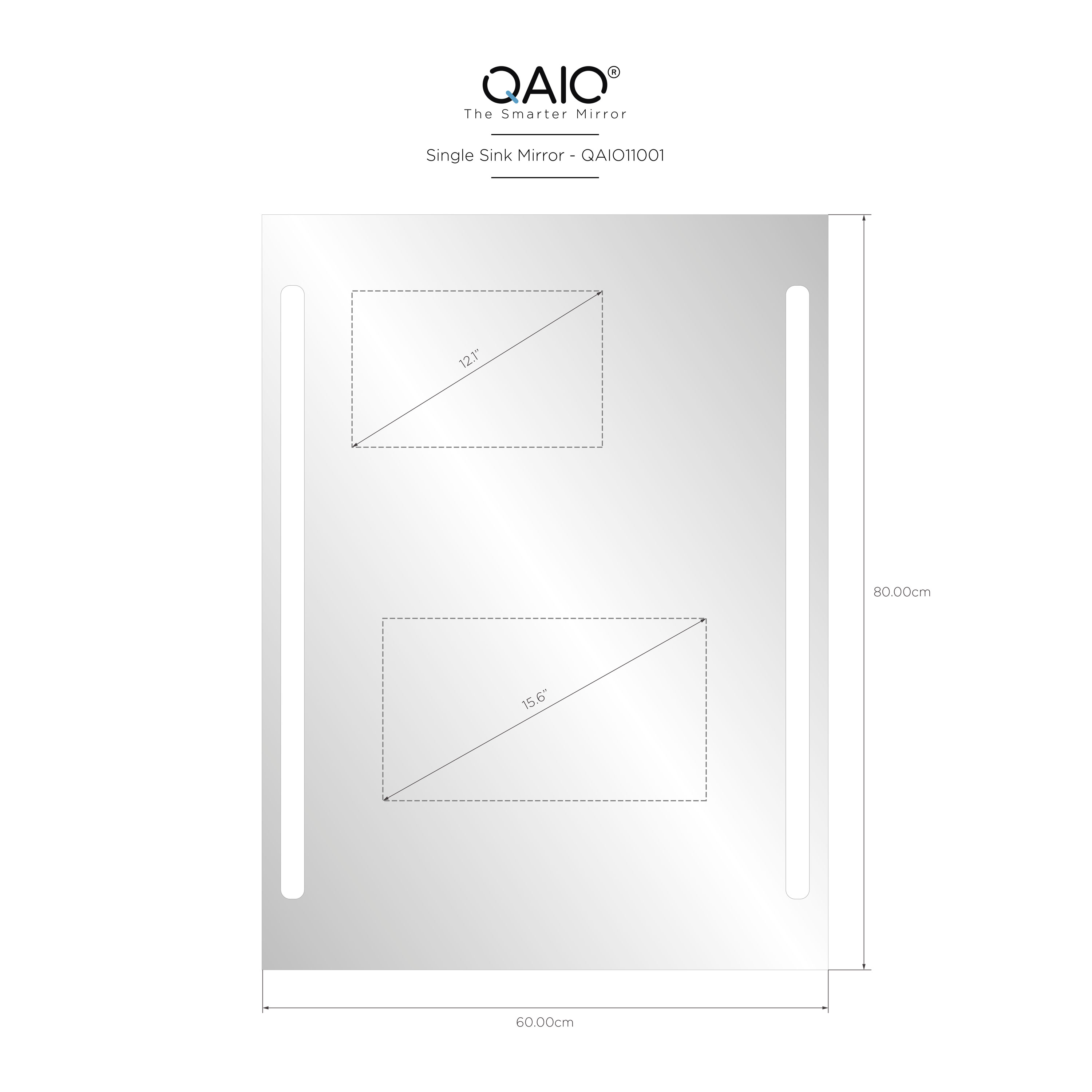 "QAIO 60cm wide x 80cm high, with 15.6"" TV (QAIO11001)"