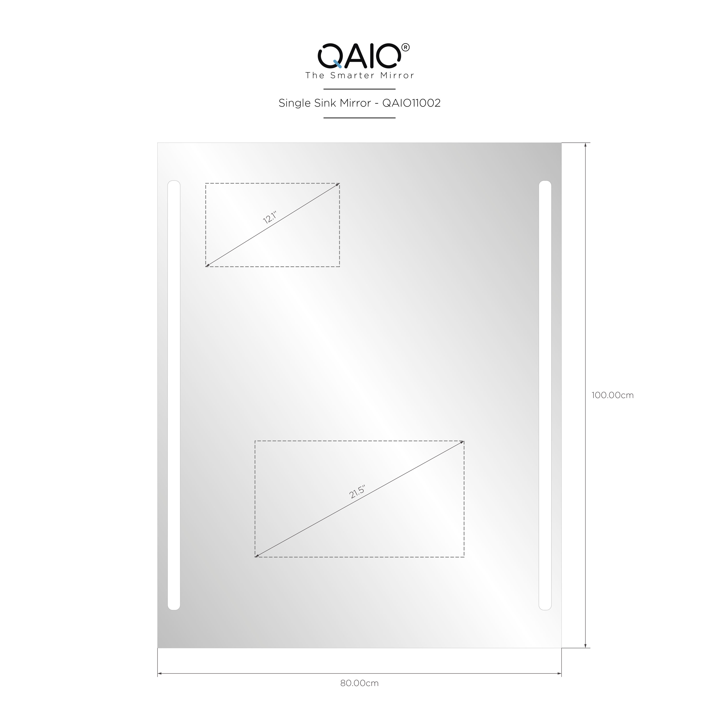 "QAIO 80cm wide x 100cm high, with 22"" TV (QAIO11002)"