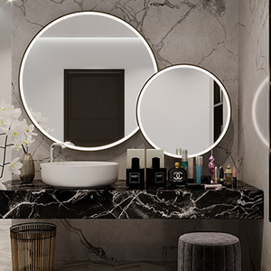 This beautiful mirror is available in different sizes.