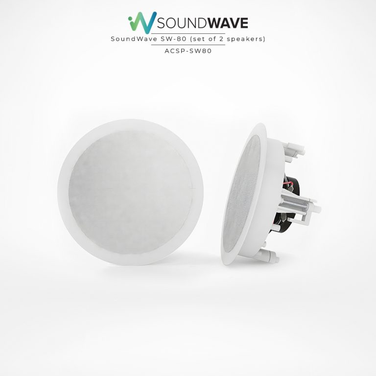 This set of speakers is a moisture-resistant speaker and can be recessed.